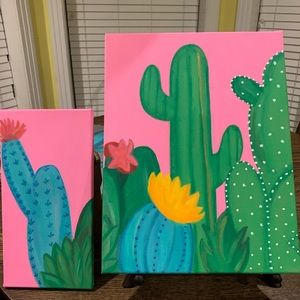 Cactus Canvas paintings